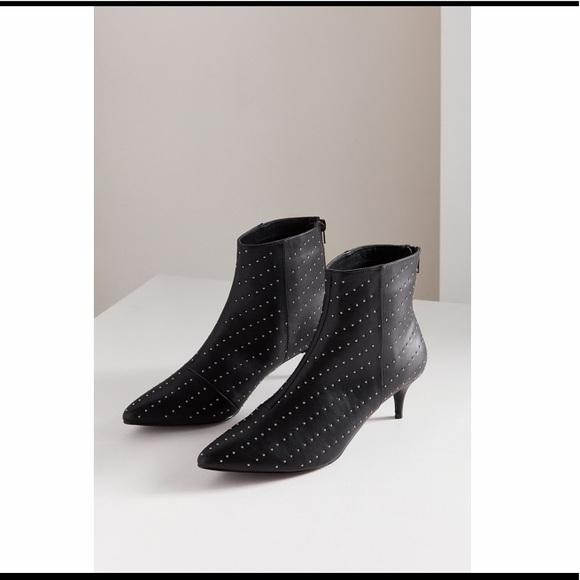 e5463d5084e UO Jules Studded Kitten Heel Ankle Boot